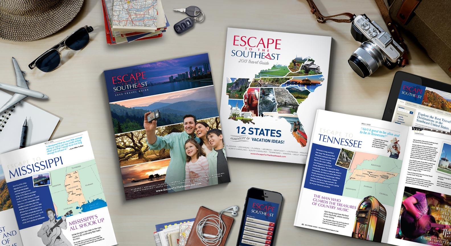 Publication, website and app design for travel from Red Van Creative - Logo Design, Print Design